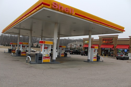 Shell gas station in Mississippi
