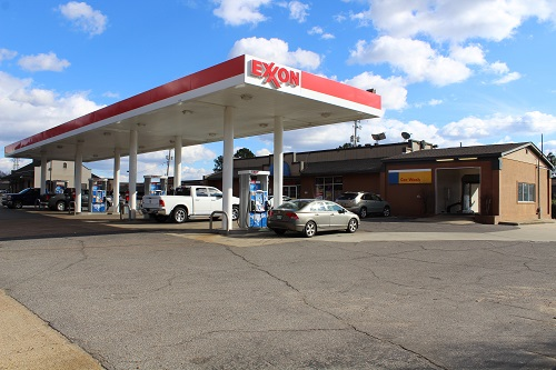 Exxon gas station in Arkansas