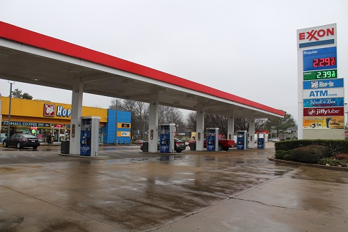 Exxon gas station Memphis tn